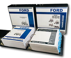 Ford 2600 3600 4600 6600 7600 Tractor Ag And Industrial Service Parts Manual Set