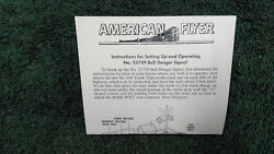American Flyer M4552 23759 Bell Ringer Signal Instruction Photocopy