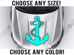 Anchor Rope Hood Decal Vinyl Sticker Custom Any Size Color Girly Sailor Sea Boat