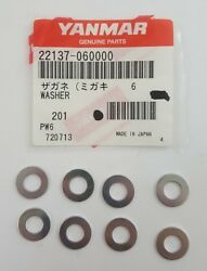 Yanmar 22137-060000 Washer 6 Package Of 8 Washers