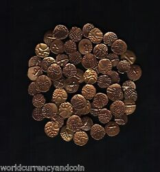 India 17-18th Century Rare X 50 Pcs Lot Ancient Indian Gold Fanams Antique Coin