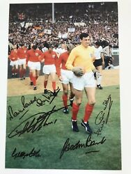 England 1966 World Cup Signed Hurst Peters Banks Wilson Cohen Jack Charlton