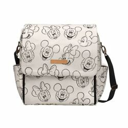 Disney's Sketchbook Mickey and Minnie Boxy Diaper Bag Backpack