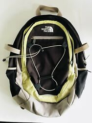 The North Face Isabella Backpack Brown Green Zipper Outdoor Women's School Nice