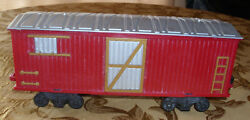 Train Freight Car From Santas Jumbo Express Red 12-1/2 X 3 G Scale