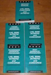 01 2001 LHS 300M Intrepid Concorde service shop manual with four extra volumes