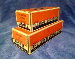 LIONEL 1656 SWITCHER & 6403B TENDER WITH BELL EMPTY BOXES W INSERTS *NO RESERVE*