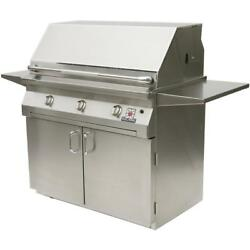 Solaire 42 Inch InfraVection Natural Gas Grill With Rotisserie On Standard Cart