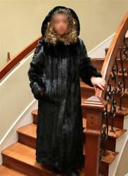 Woman mink fur 52""