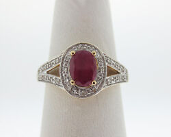 Natural Ruby Diamonds Solid 14k Two-tone Gold Ring Free Sizing