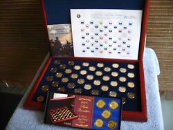Us Statehood Quarters 24kt Gold Layer Edition 1999-2008 From Morgan Mint 350