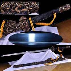 High Quality Pattern Steel Clay Tempered Chinese Tang Swords Sharp Blade Katana