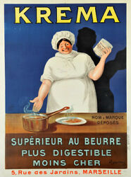 Kream vintage butter substitute food ad poster repro 24x32