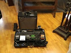 Fender American Statocaster Professional Guitar With Fender Champ 40 Amplifier A