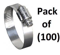 100 Ideal 670040064053 2-1/2 - 4-1/2 Marine Grade Stainless Steel Hose Clamps
