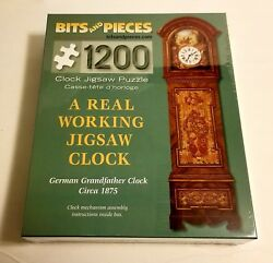 1200 Pc. Jigsaw Puzzle 1875 German Grandfather Clock Bits And Pieces New Sealed