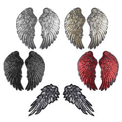 Sequins Angel Wings Embroidered Patch SewIron-on Applique Heat Transfer Sticker