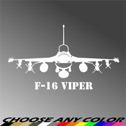 Us Air Force F-16 Viper Fighting Falcon Fighter Jet Aircraft Decal Sticker