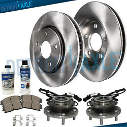 Front Wheel Bearings And Hub + 330mm Brake Rotors For Town And Country Ram Dodge