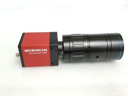 Microscan Cmg80 Ccd Camera 98-000260-01 Visionscape Gige + 75mm Lens