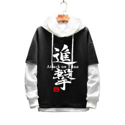 Anime Attack On Titan Pullover Hoodie Casual Hooded Sweatshirt Cosplay Outerwear