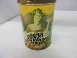 Vintage Advertising Old Southern Coffee Tin 131-q