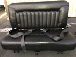 Hummer H1 jump aux Seat Original With Belts And Bracket Black