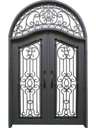 Wrought Iron Double Front Door,72''x120'',Double Insulation Glass [In Stock]