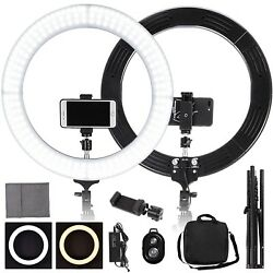 19 Led Ring Light W/ Stand Dimmable 2700-5500k Lighting Kit Photo Video Makeup