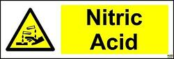 Sticker / Decal - Warning Nitric 150mm X 50mm - Warning Safety - Kp1400d