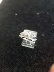 Vintage Antique Platinum And 14k 2 Ring Set With Dimond