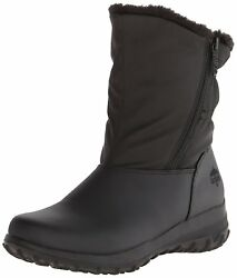Totes Womens Rikki Closed Toe Mid-Calf Cold Weather Boots Black Size 6.0