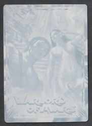 Warlord Of Mars Preview Breygent 2012 Printing Plate Title Card 1 Cyan