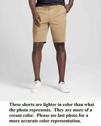 Goodfellow And Co Menand039s 10.5 Linden Light Khaki Cream Chino Shorts - Pick Size
