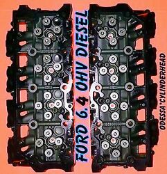 New Pair Ford 6.4 Powerstroke V8 Twin Turbo Diesel F350 Truck Cylinder Heads
