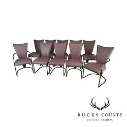 Design Institute Of America Post-modern Set 10 Chrome Dining Chairs