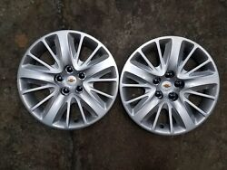 Pair Of 2 Brand New 2014 14 2015 15 Impala 18 Hubcaps Wheel Covers 3299