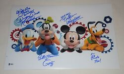 Mickey Mouse Clubhouse Cast Signed Autographed 12x18 Photo Bas Loa A08857