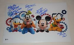 Mickey Mouse Clubhouse Cast Signed Autographed 12x18 Photo Bas Loa A08858