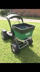 LESCO STAND UP FERTILIZER SPREADER