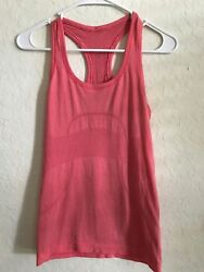Lululemon Sz 4 Swiftly Heathered Lush Coral