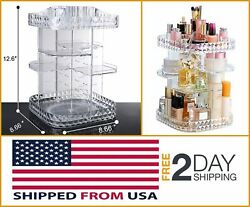 RAYKING Makeup ORGANIZER 360Degree Rotating Cosmetic Display STORAGE Box DIY New