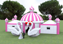 5000 sqft Inflatable Princess Tent Commercial Event Wedding Bar We Finance