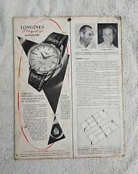 Vintage Scarce Longines Flagships Automatic Paper Adv. Sign Board