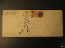 1881 Eaton Ohio To Plymouth Indiana Us Fancy Cancel Attorney Advertising Cover