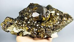 New Find Beauty Andradite Golden Hair Garnet Crystal Mineral SpecimensChina