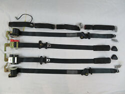 1996-1998 ford mustang coupe seat belt kit OEM factory ford original black GT