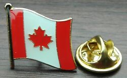 Canada Canadian Country Flag Lapel Tie Cap Or Hat Pin Badge Brooch