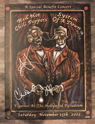 Red Hot Chili Peppers/ Sytem Of A Down Autographed Emek Poster La 93