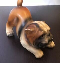 Vintage Ceramic English Bulldog Figurine Statue 5' Inches Unmarked